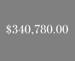 $340,780