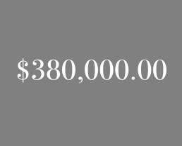 $380,000